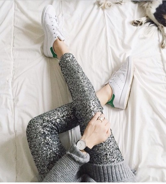 pants glitter pants