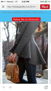 grey,pea coat,fall outfits,style,jacket,gray peacoat