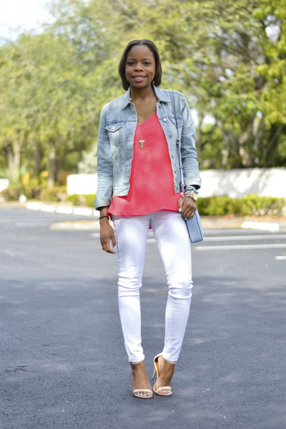 cha cha the fashion genius blogger jacket tank top jeans shoes jewels