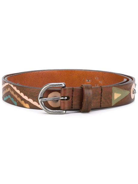 hollywood belt print brown