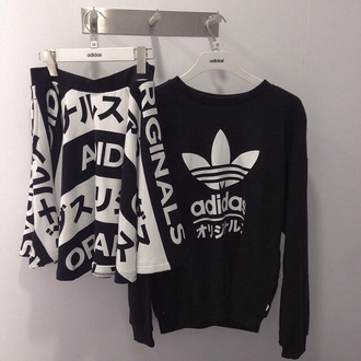 sweater black and white adidas grunge tumblr pale pale grunge hipster