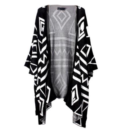 Aztec bat sleeve cardigan from doublelw on storenvy
