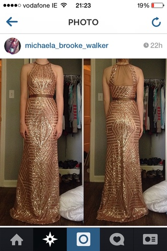 dress gold sparkles