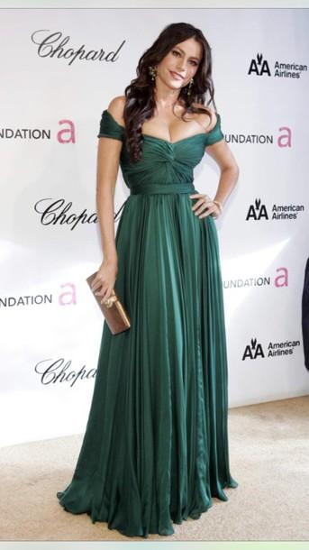 dress green dress long dress