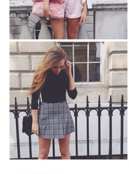 skirt long sleeves top fashion