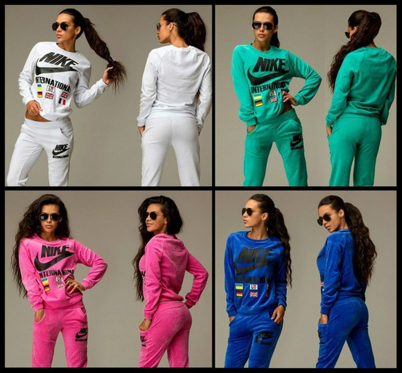 nike jumpsuit velvet velour sweatsuit sportswear blouse tracksuit summer outfits swag