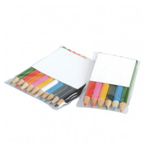 home accessory printed coloured pencils custom printed colour pencil coloured pencils in pvc pouch personalised colour pencil vivid promotions australia