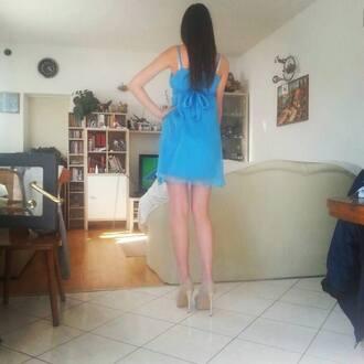 dress blue evening dress