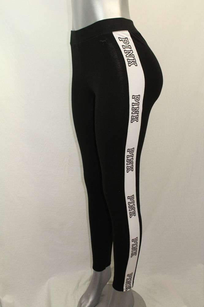 dcad93ed759b1 Victoria's Secret Pink Very Sexy Fashion Legging Pant NWT Medium Black &  White