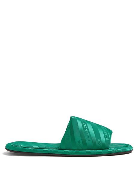 Balenciaga jacquard green shoes