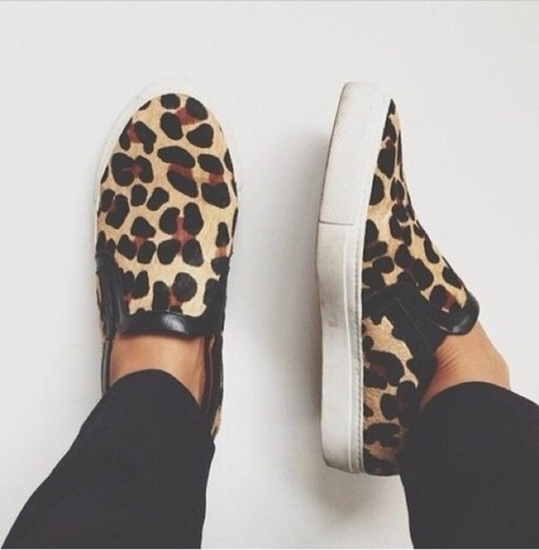 shoes animalier leopard print zebra