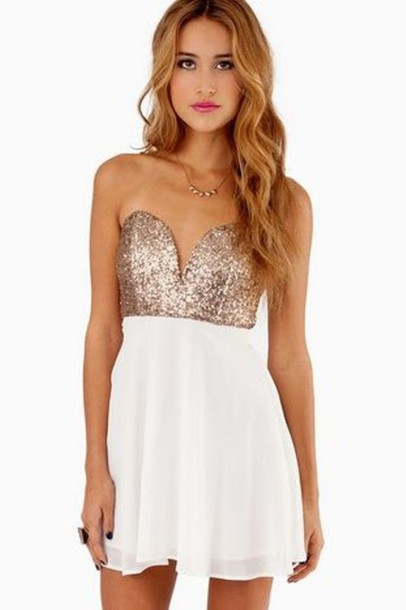 Dress: short club dress- blonde hair- sequin dress- clubwear ...