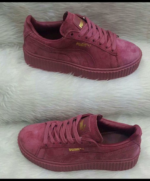 shoes burgundy puma creepers a7ce8dd2e