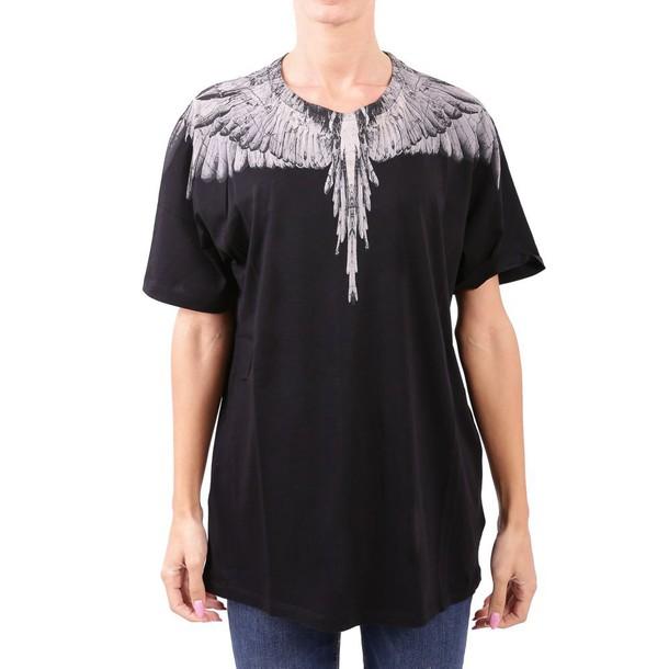 Marcelo Burlon t-shirt shirt cotton t-shirt t-shirt cotton black multicolor top
