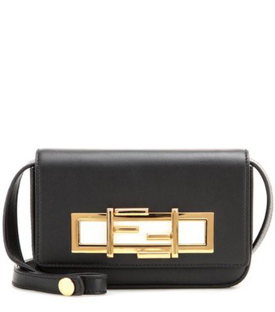 Fendi mini bag shoulder bag leather black
