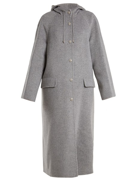 Joseph coat wool light grey