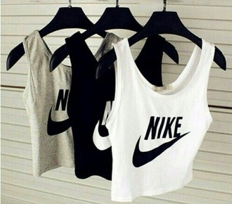 tank top activewear sportswear running clothes nike shirt top black and white nike tank top grunge pale grunge black and white grunge t-shirt pale hipster white crop tops grey top black top crop crop tops white grey black t-shirt grey t-shirt nikes