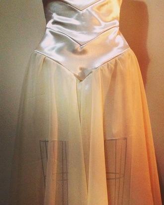 dress emilyelizabeth prom dress satin chiffon chiffon dress mermaid