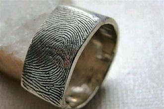 jewels ring fingerprint design jewelry silver silver ring fingerprint ring custom made ring