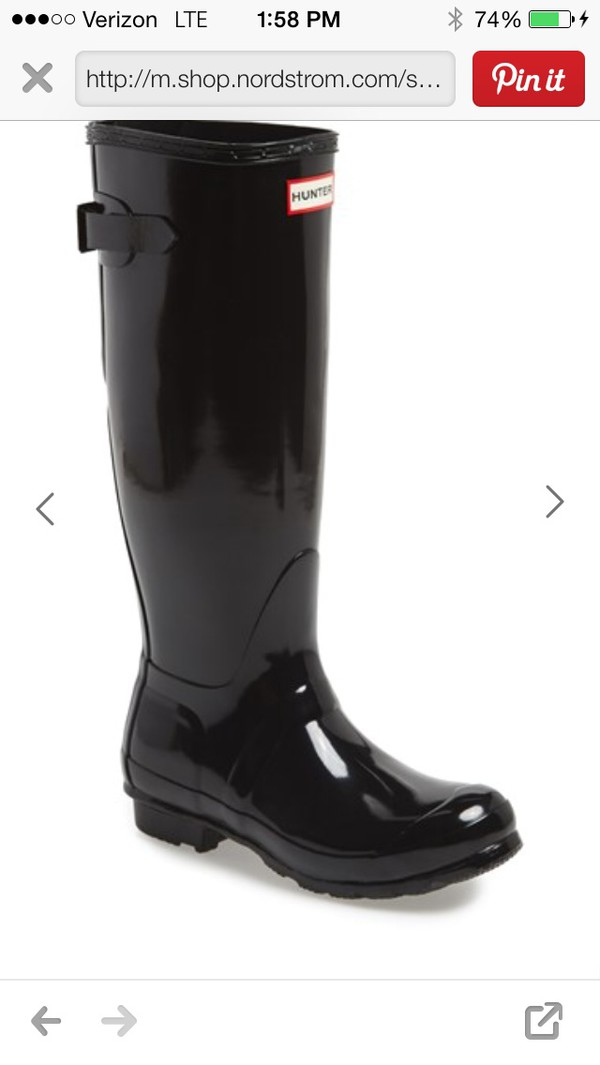 black hunter boots rainboots shop.nordstrom.com wellies