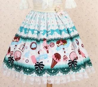 shirt food japanese fashion t-shirt skirt