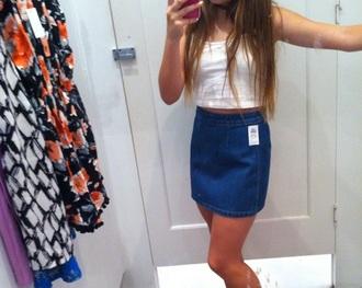 skirt denim high waisted
