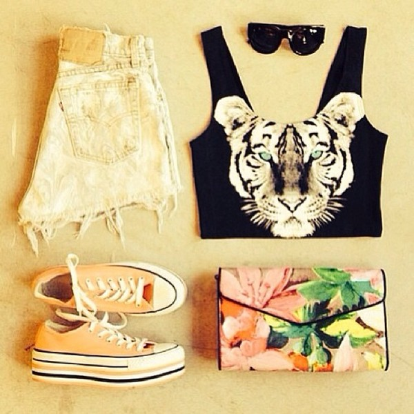 shorts bag shirt