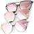 The One Mirrored Cateye Aviator Sunglasses