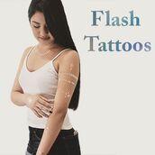 swimwear,temporary tattoo,summer,metallic,body art,flash tatts,summer body art,bohemian,wild child,sivalya