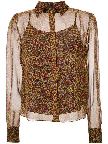shirt women silk top