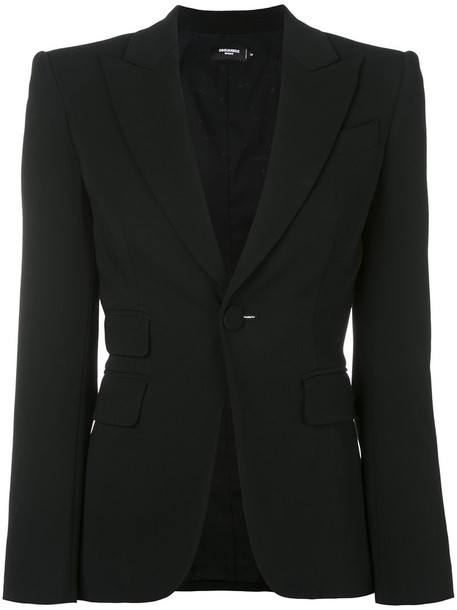Dsquared2 blazer women spandex black jacket