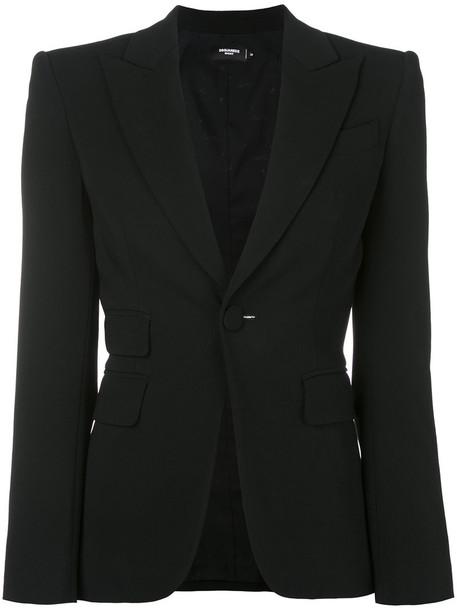 blazer women spandex black jacket