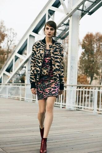 jacket animal print bomber jacket sonia by sonia rykiel print