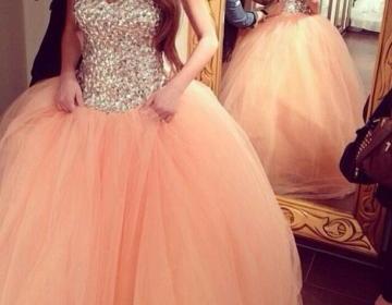 Gorgeous blush pink sweetheart tull..