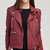 Rock Out Pleather Moto Jacket - Burgundy