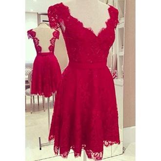 dress red red dress lace dress red lace dresses