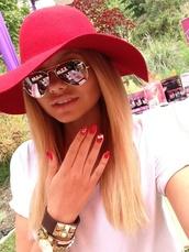 hat,pink,black,sun,alli simpson,sunglasses