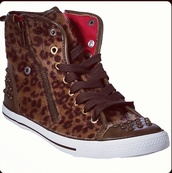 shoes,leopard print,high top sneakers,studs,leather