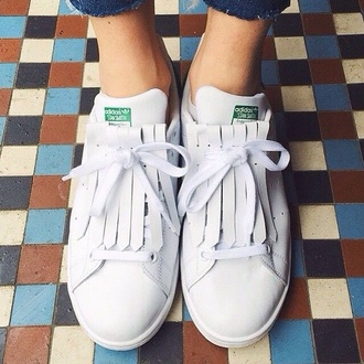 shoes stan smith snickers old school vintage sneakers white sneakers adidas hipster