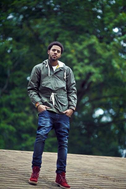 Jacket Olive Jcole Windbreaker Menswear Mens Jeans Red Timberlands Hipster Menswear