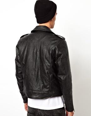 ASOS | ASOS Leather Look Biker Jacket at ASOS