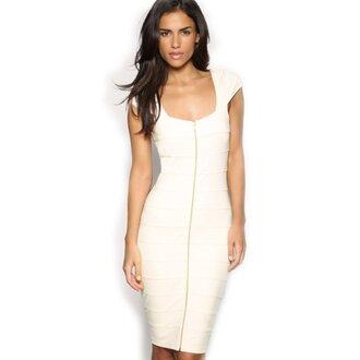 dress white dress zipper dress