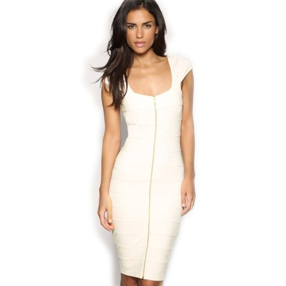 dress white dress zipper dress