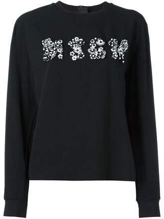 sweatshirt floral black sweater