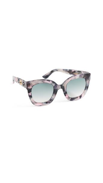 Gucci Urban Stars Rectangle Sunglasses in grey / pink