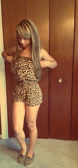 blouse one piece jumpsuit leopard print shorts cute summer shoes