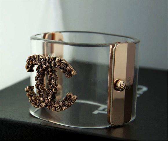 jewels bangles bracelets chanel cuff bracelet cc logo chanel brand rihanna style rihanna