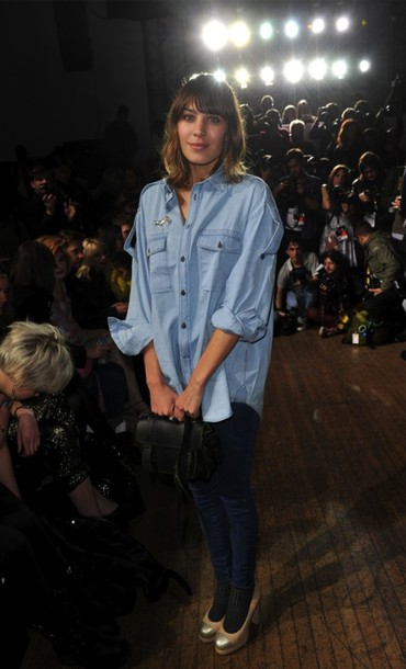 shirt alexa chung denim shirt