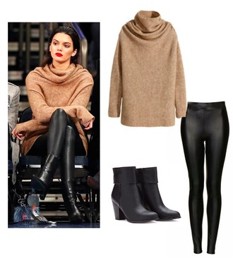 sweater kendall jenner camel winter sweater