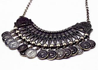 jewels silver accessories fancy boho grunge collar black jewels jewelry